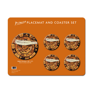 Scene of a Race with Fish, 1957  - Polyprop Placemat & Coaster Set<br>(Pack of 5)