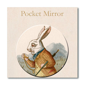 White Rabbit Pocket Mirror<br>(Pack of 10)