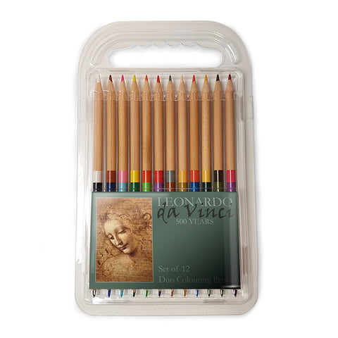 Head of a Young Woman Duo Colouring Pencils<br>(Pack of 5)
