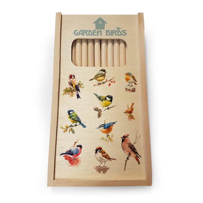 Mixed Birds 1 - Wooden Pencil Set<br>(Pack of 5)