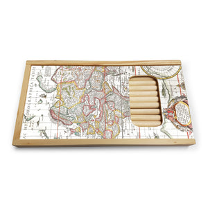 Map of the World Wooden Pencil Set<br>(Pack of 5)