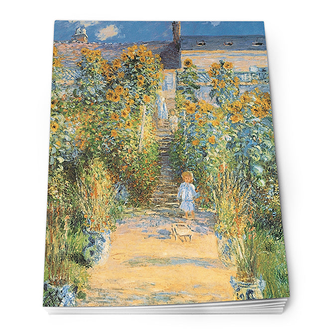 The Artist's Garden at Vetheuil Notepad<br>(Pack of 10)