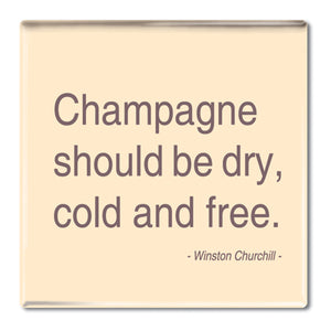 Churchill - Champagne Fridge Magnet<br>(Pack of 10)