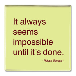 Mandela - It Always Seems Impossible Fridge Magnet<br>(Pack of 10)