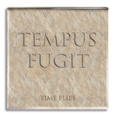 Tempus Fugit (Time Flies) Fridge Magnet<br>(Pack of 10)