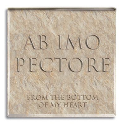 Ab Imo Pectore (From the Bottom of my Heart) Fridge Magnet<br>(Pack of 10)