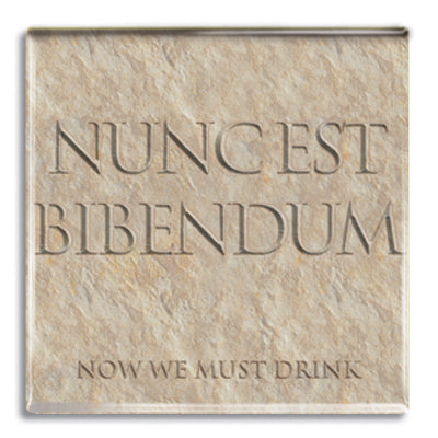 Nuncest Bibendum (Now We Must Drink) Fridge Magnet<br>(Pack of 10)