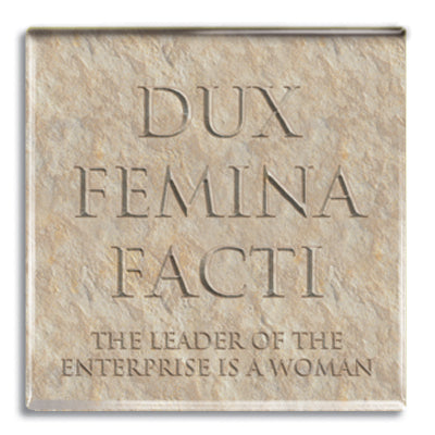 Dux Femina Facti (Leader of Enterprise) Fridge Magnet<br>(Pack of 10)