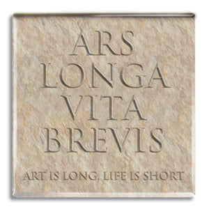 Ars Longa Vita Brevis (Art is Long, Life is Short) Fridge Magnet<br>(Pack of 10)