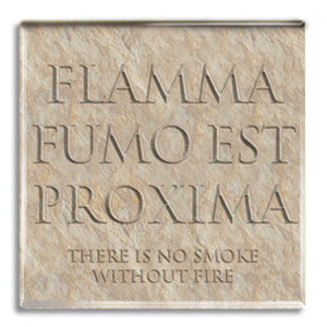 Flamma Fumo Est Proxima (Smoke without Fire) Fridge Magnet<br>(Pack of 10)