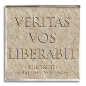 Veritas Vos Liberabit (Truth Shall set you Free) Fridge Magnet<br>(Pack of 10)
