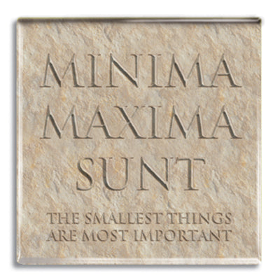 Minima Maxima Sunt (Smallest, Most Important) Fridge Magnet<br>(Pack of 10)