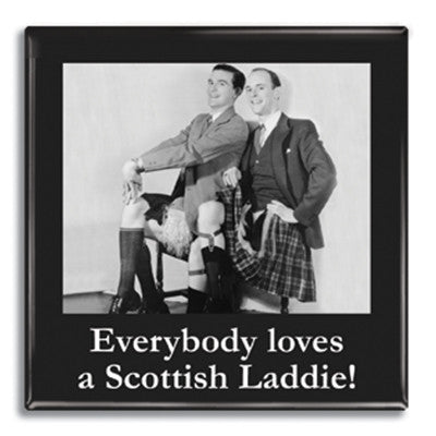 Everybody loves a Scottish laddie Fridge Magnet<br>(Pack of 10)