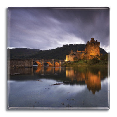 Eilean Donan at Night Fridge Magnet<br>(Pack of 10)