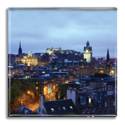 Edinburgh at Night Fridge Magnet<br>(Pack of 10)