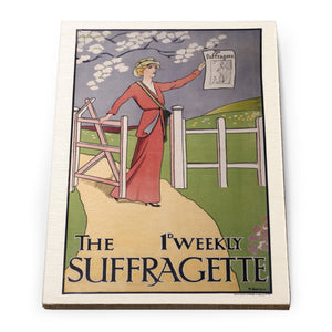 The 1st Weekly Suffragette Wooden Postcard<br>(Pack of 5)