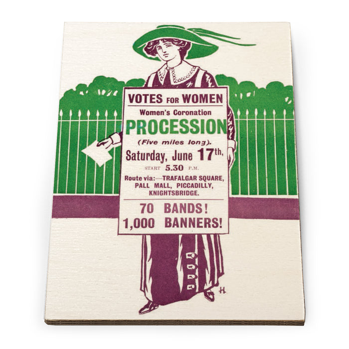 Women's Coronation Procession Wooden Postcard<br>(Pack of 10)