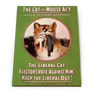 The Cat and Mouse Act Wooden Postcard<br>(Pack of 5)