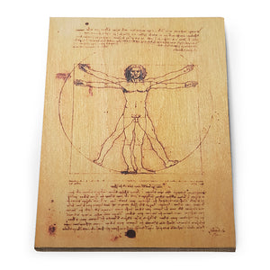 Vitruvian Man Wooden Postcard<br>(Pack of 10)