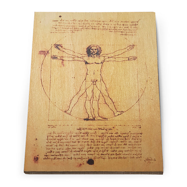 Vitruvian Man Wooden Postcard<br>(Pack of 5)