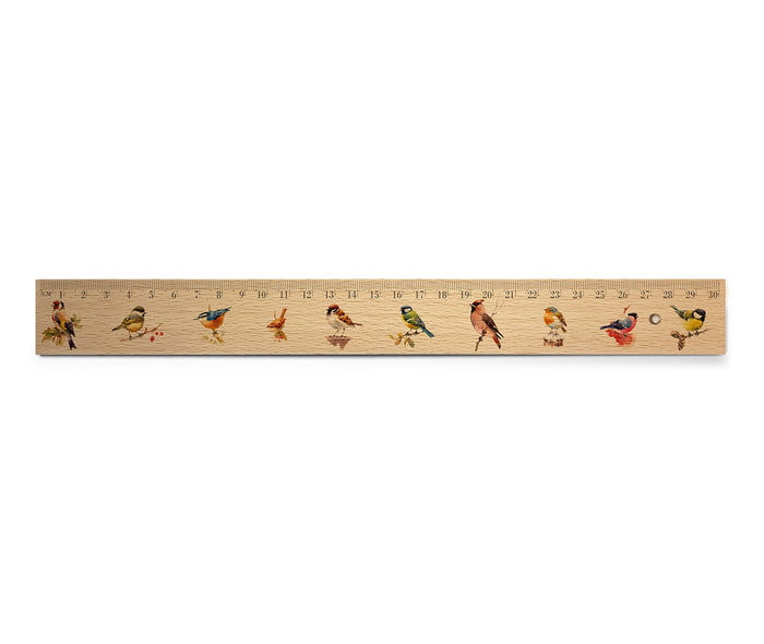 Mixed Birds 1 - Wooden Ruler<br>(Pack of 10)