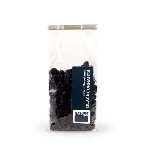 Dried sweetened blackcurrants