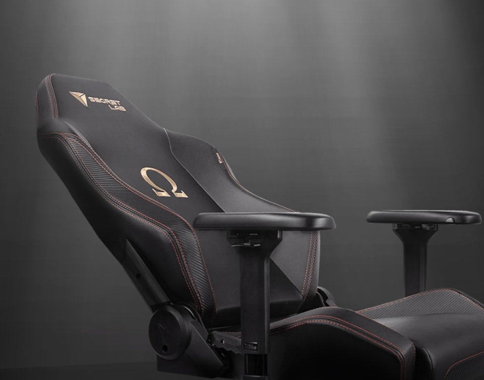 Secretlab gaming chair in recline position