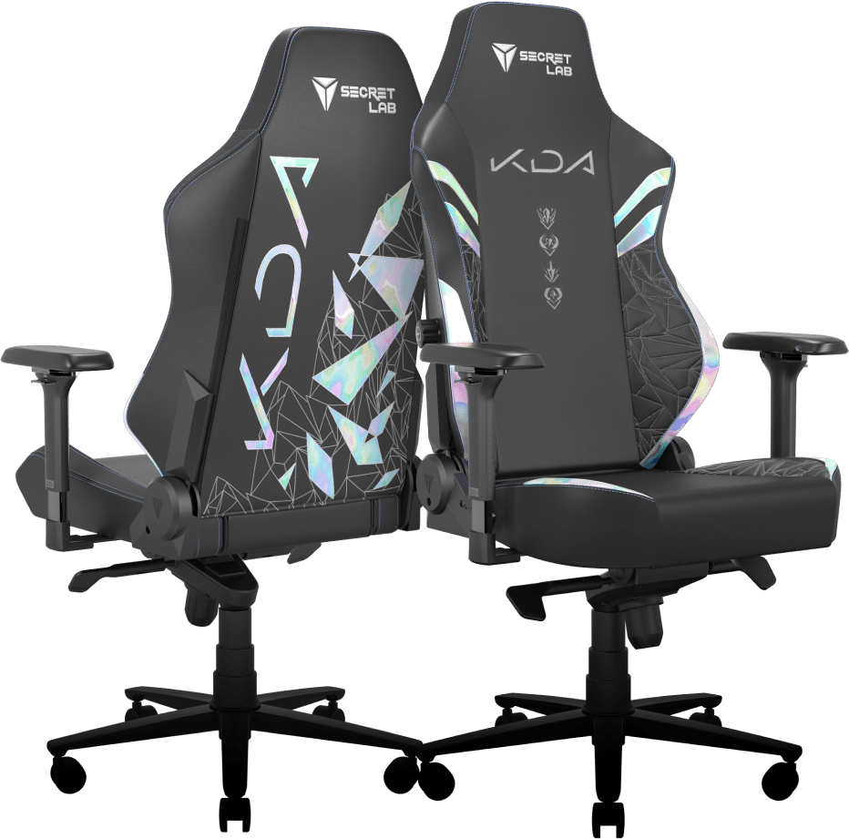 Secretlab K/DA ALL OUT edition gaming chairs