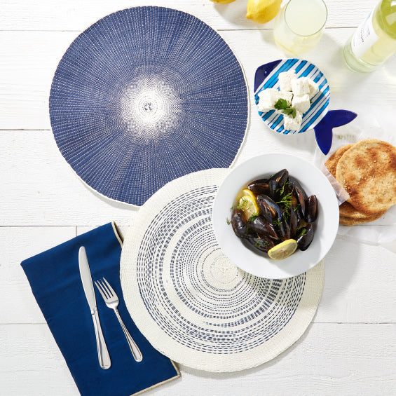 Blue or White Placemats