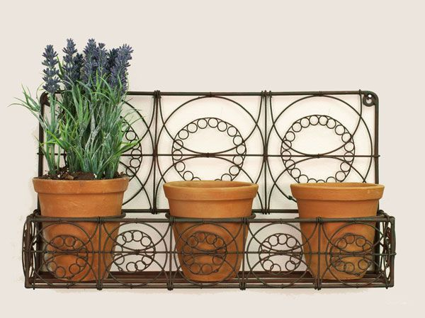 Wall Planter with Three Pots
