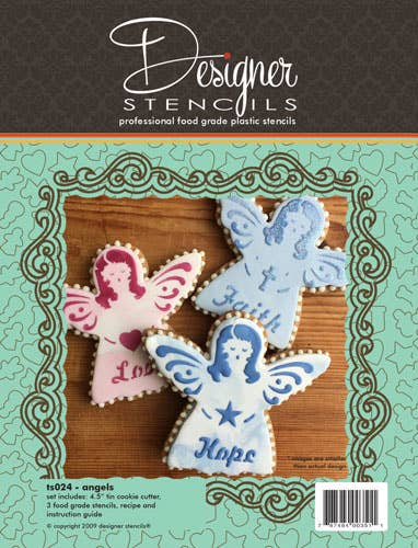 Angel Cookie Cutter and Stencil Set