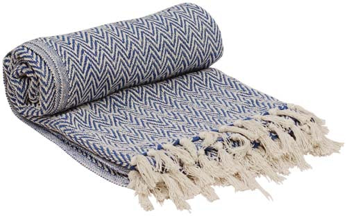 100% Pure Cotton Throw Blanket