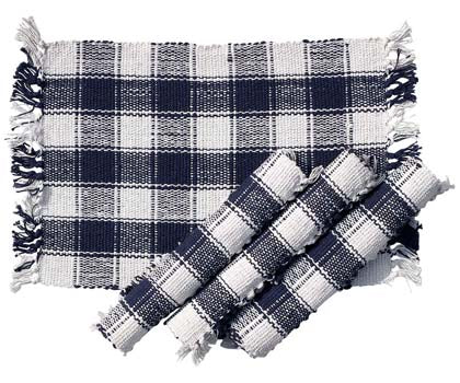 Blue & White Plaid Placemat