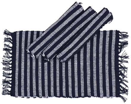 Navy Blue Striped Placemat