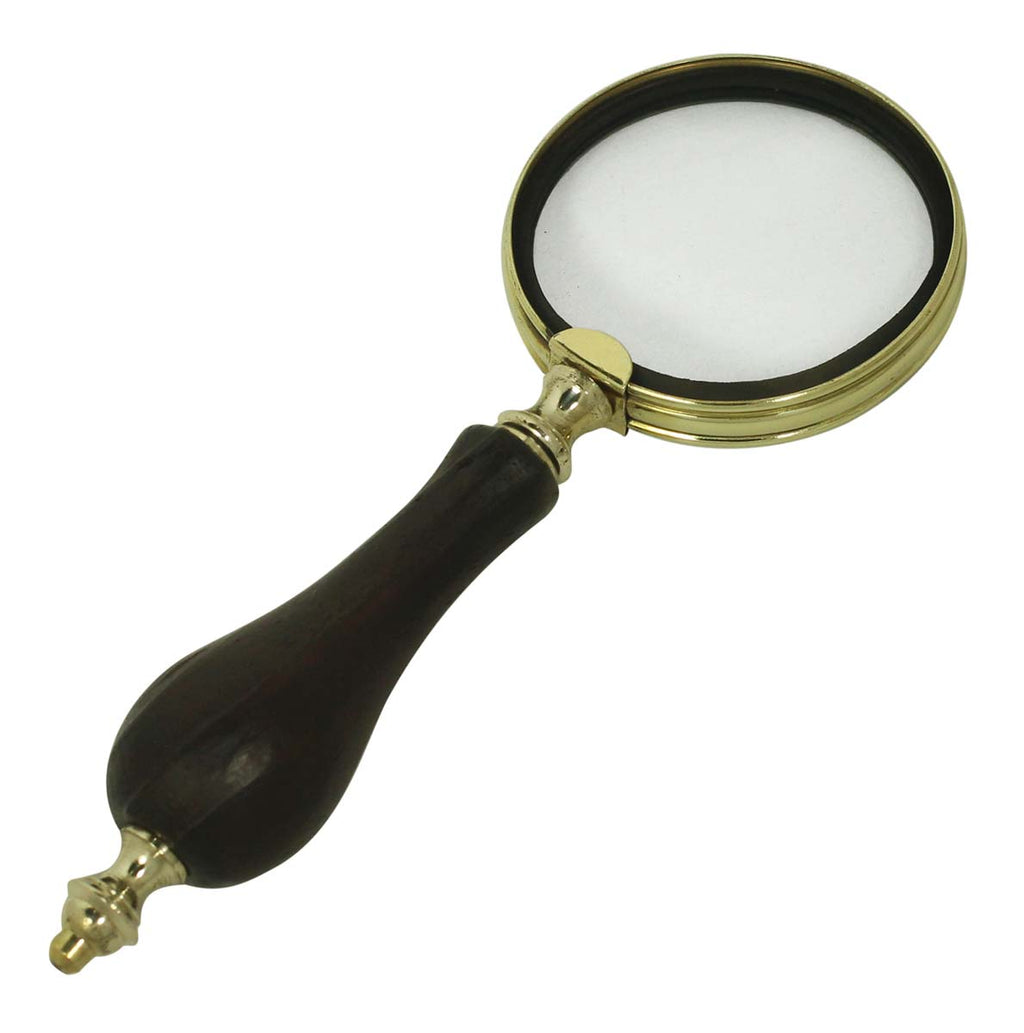 "Brass & Black Magnifying Glass (8"")"