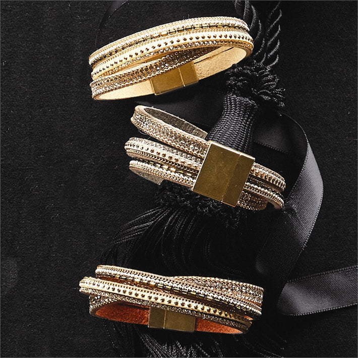 Embellished Leather Bracelet