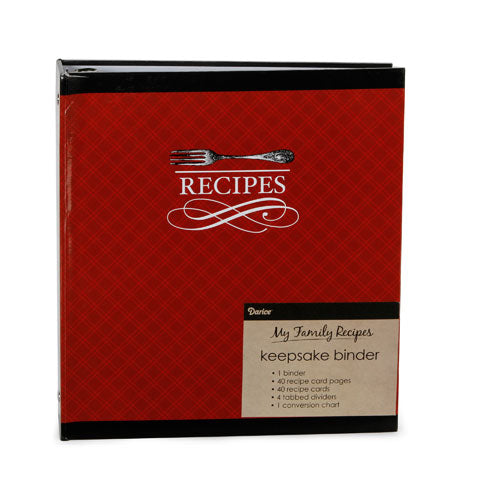 My Family Recipes Keepsake Binder - Vintage Cutlery
