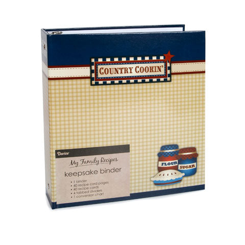 My Family Recipes Keepsake Binder - Country Cookin'