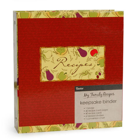My Family Recipes Keepsake Binder - Tuscan Garden