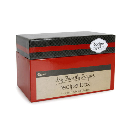 My Family Recipes Recipe Card Box - Vintage Cutlery