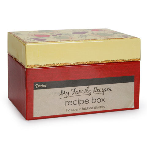 My Family Recipes Recipe Card Box - Tuscan Garden