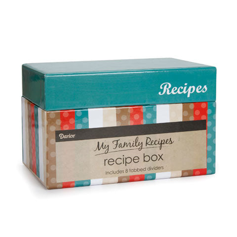 My Family Recipes Recipe Card Box - Modern Kitchen