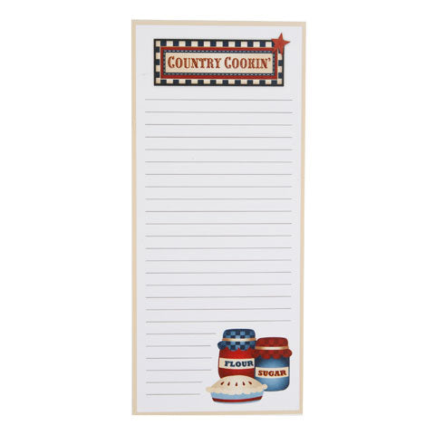 My Family Recipes Magnetic Memo Pad - Country Cookin'