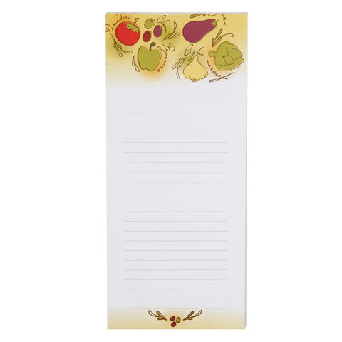 My Family Recipes Magnetic Memo Pad - Tuscan Garden