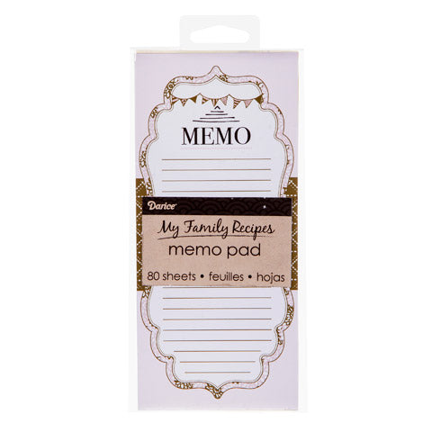 My Family Recipes Magnetic Notepad - Pink & Brown Floral