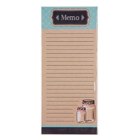 My Family Recipes Memo Pad - Teal and Kraft