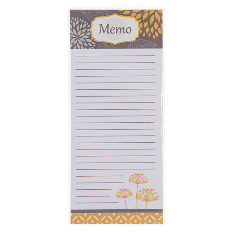 My Family Recipes Memo Pad - Yellow and Grey Floral