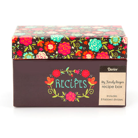 My Family Recipes Recipe Card Box - Happy Day
