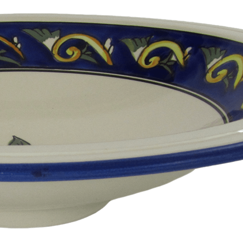 Stoneware Large Footed Serving Bowl - Riya