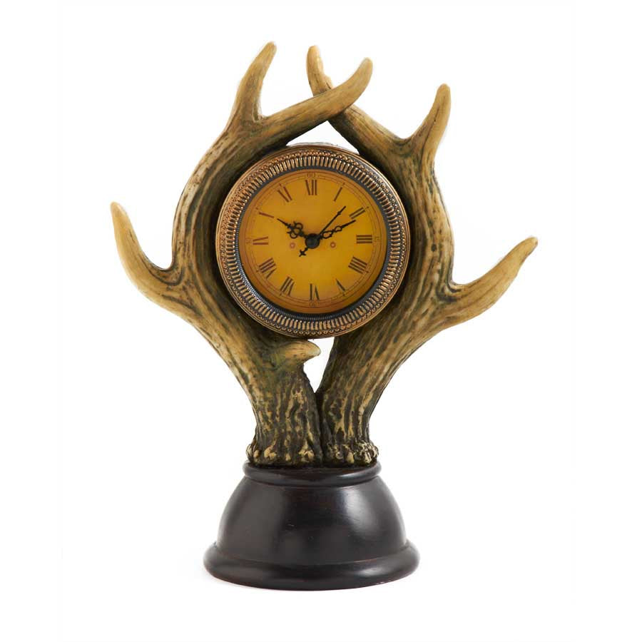 "11"" Antler Clock on Base"